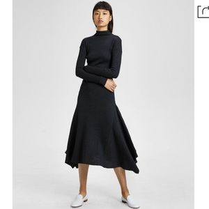 Theory Panel Ribbed Sweater Maxi Dress. NWT.